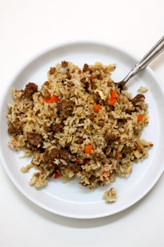 Instant Pot Beef Fried Rice
