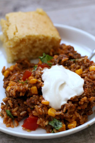 Slow Cooker Cheesy Taco Rice