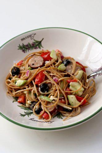 Instant Pot Greek Spaghetti