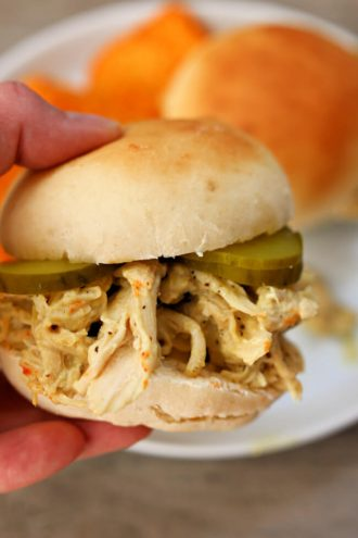 Instant Pot Honey Mustard Chicken Sandwiches