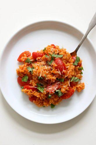 Instant Pot Tomato Basil Parmesan Rice