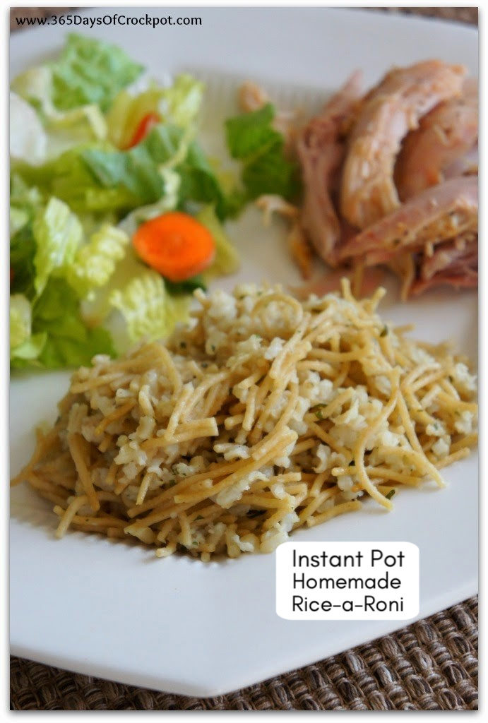 "Instant Pot Homemade Rice-A-Roni--Do you love ""the San Francisco treat"" but want to make it from scratch?  Make this super easy version of Rice-A-Roni in your Instant Pot!  It's the perfect side dish for so many meals."