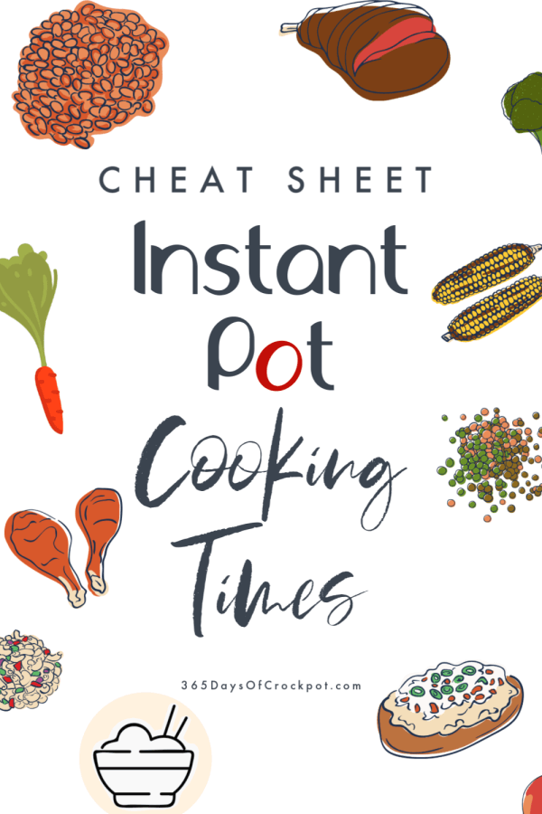 Need a quick cheat sheet to find out how long to cook certain foods in the Instant Pot? I've got you covered! Here are Instant Pot cooking times for several common foods.