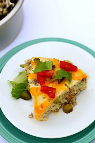 Instant Pot Cheeseburger Breakfast Casserole