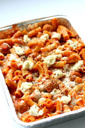 Instant Pot Ziti and Meatballs