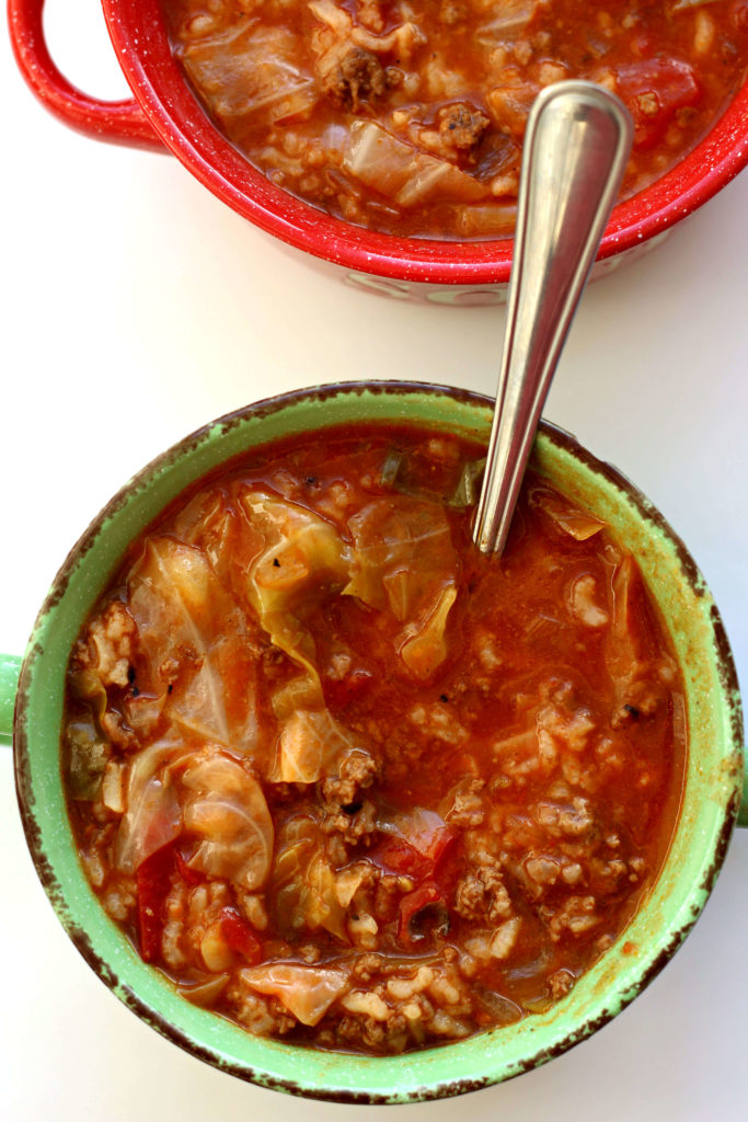 Slow Cooker Cabbage Roll Soup--an easy way to enjoy all the flavors of cabbage rolls. This soup will be your family's new favorite!