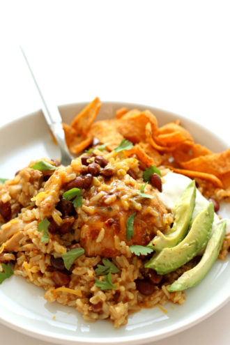 Instant Pot Ranch Chicken Taco Rice
