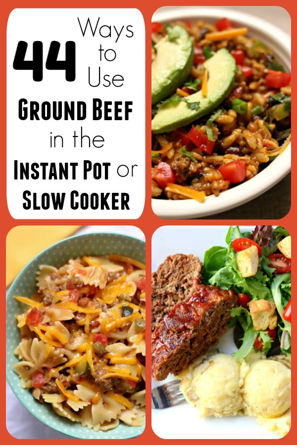 Have a pound of ground beef or ground turkey hanging out in your fridge or freezer? Want to mix it up and make something other than spaghetti? Here are 44 ways to use ground beef in the instant pot or slow cooker to give you some ideas on what to make for dinner tonight!
