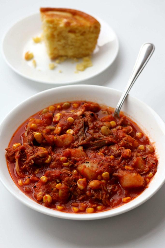 camp stew with cornbread