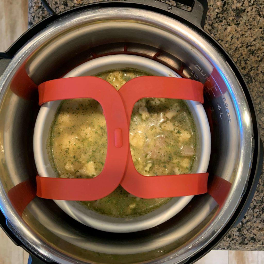 pot in pot cooking method in the Instant Pot