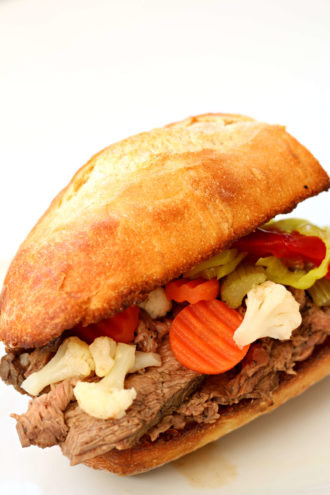 Instant Pot Chicago Italian Beef Sandwich