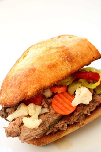 Instant Pot Chicago Italian Beef Sandwich