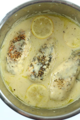 Instant Pot Creamy Lemon Chicken
