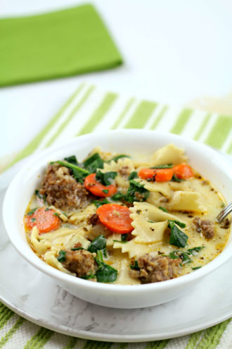 Instant Pot Italian Sausage and Spinach Soup