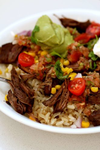 Instant Pot Chipotle Beef Burrito Bowls