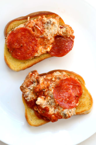 Open Faced Pizza Sandwich