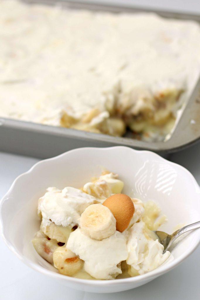 pan of banana pudding