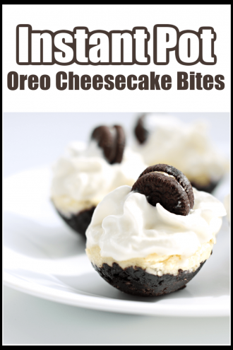 Instant Pot Oreo Cheesecake Bites