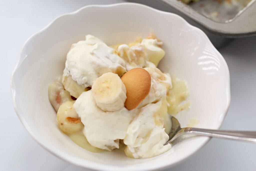 vanilla pudding and whipped cream