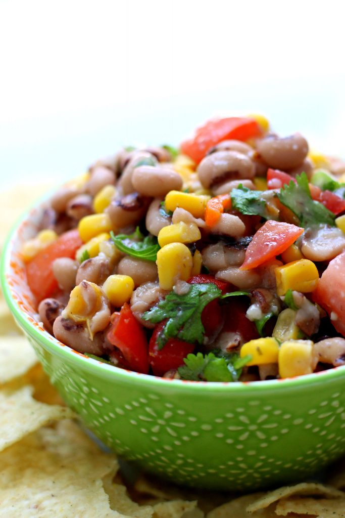 green bowl of texas caviar