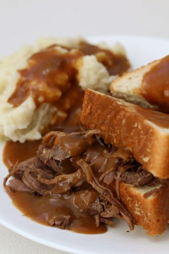 Instant Pot Hot Beef Sandwich and Mashed Potatoes