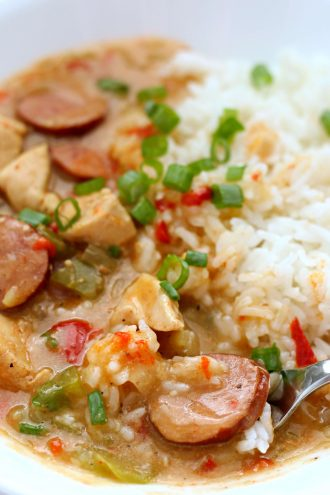 Instant Pot Chicken and Sausage Gumbo