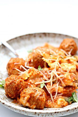 Instant Pot Dump and Go Meatball Lasagna