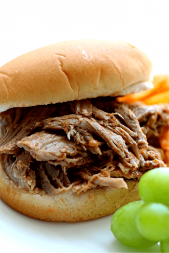 Instant Pot Pulled Pork with Lexington-Style BBQ Sauce