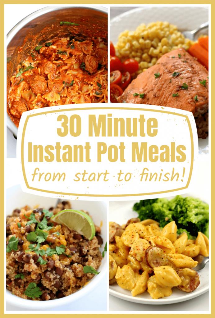 30 minute instant pot meals