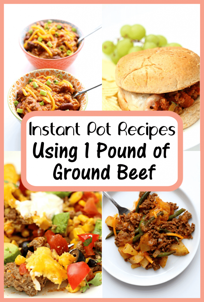 15 Instant Pot Recipes that use 1 Pound of Ground Beef