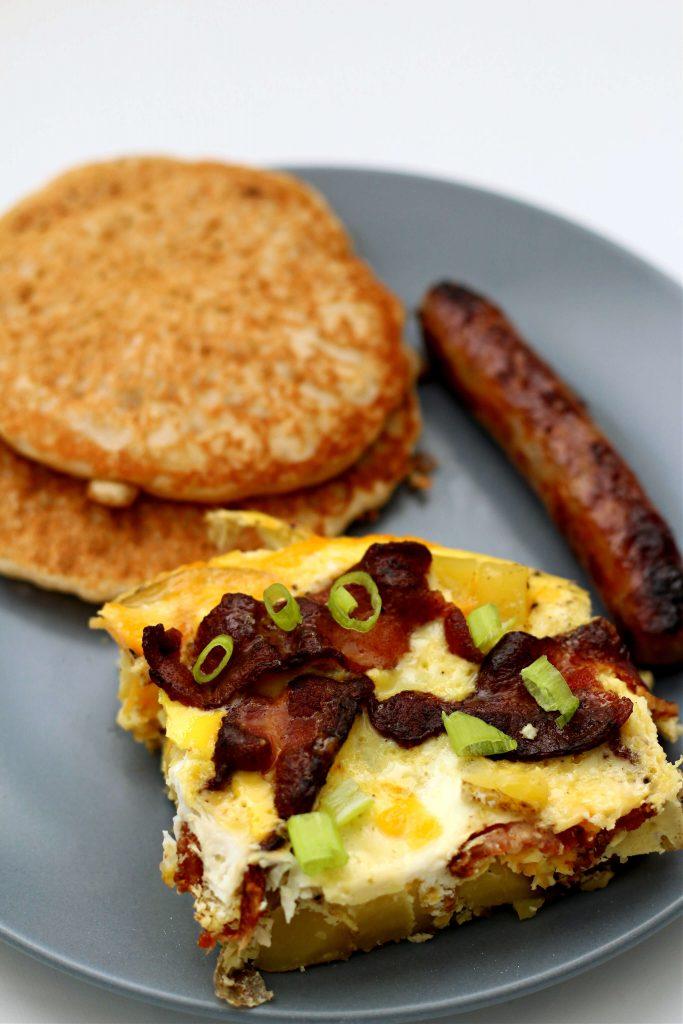 cheddar bacon egg potato casserole