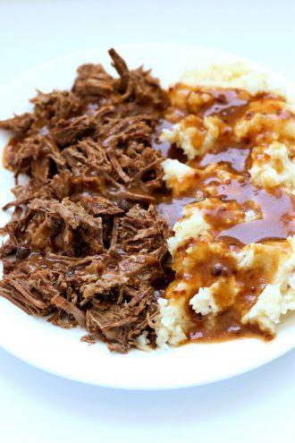 Instant Pot 4-Ingredient Pot Roast and Brown Gravy