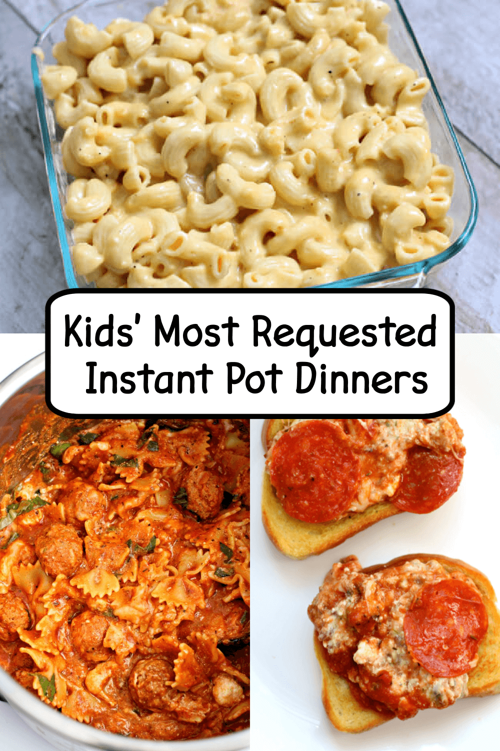 Kids Most Requested Instant Pot Dinners 365 Days Of Slow Cooking And Pressure Cooking