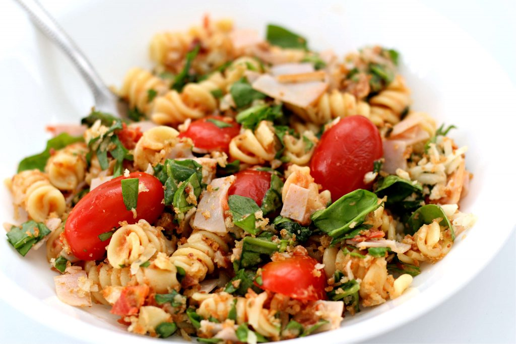 pasta with spinach and tomatoes
