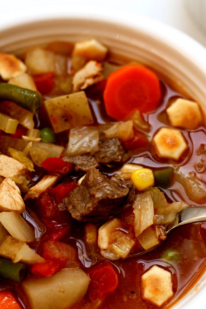 chicken and beef vegetable soup