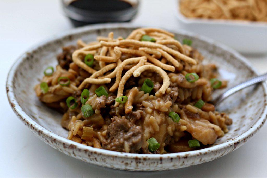 Instant Pot Beef Chow Mein Casserole Recipe
