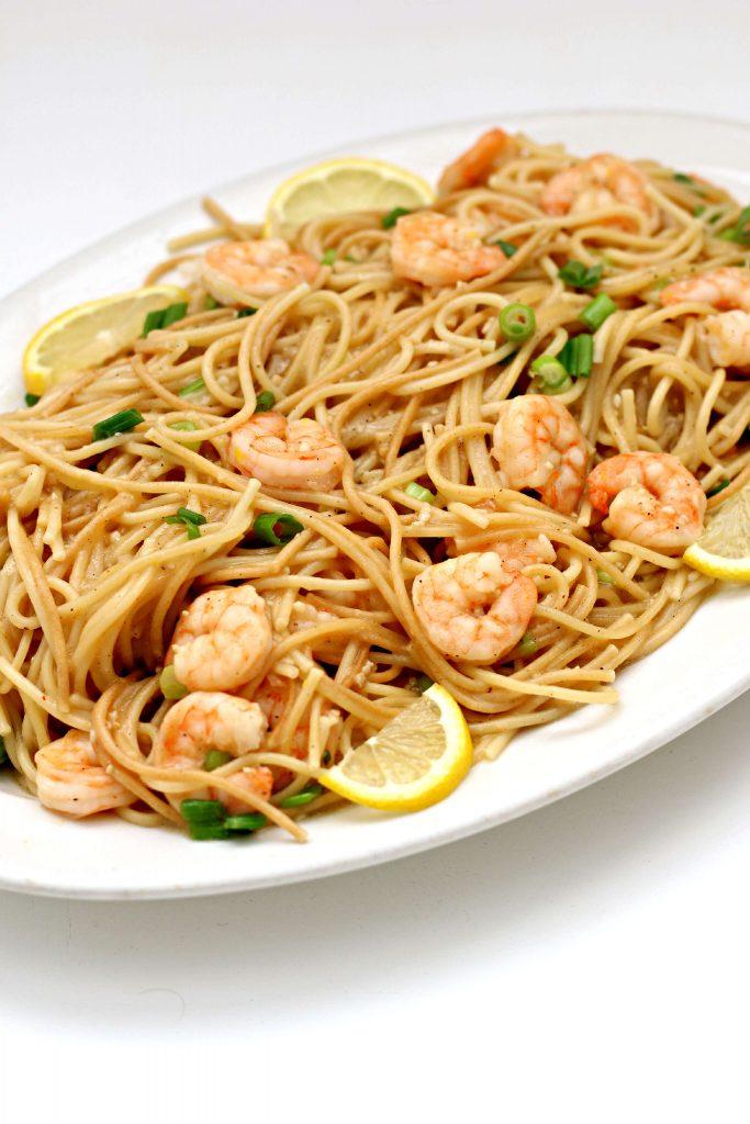 Pressure cooker shrimp scampi pasta
