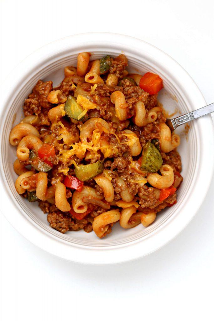 Instant Pot Sloppy Joe Macaroni Casserole Recipe