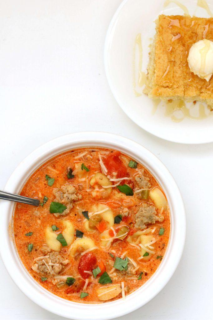 Instant Pot Sausage Tortellini Soup