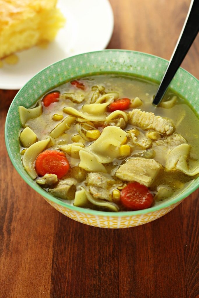 Instant Pot Amish Chicken Corn Soup