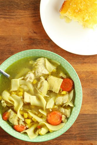 Instant Pot Amish Chicken Corn Soup