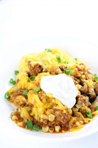 Instant Pot Cornbread Chili Casserole