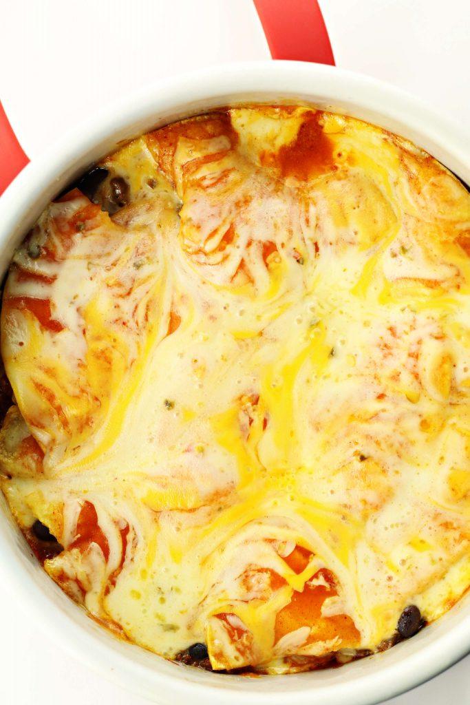 Instant Pot Garlic Beef Enchiladas