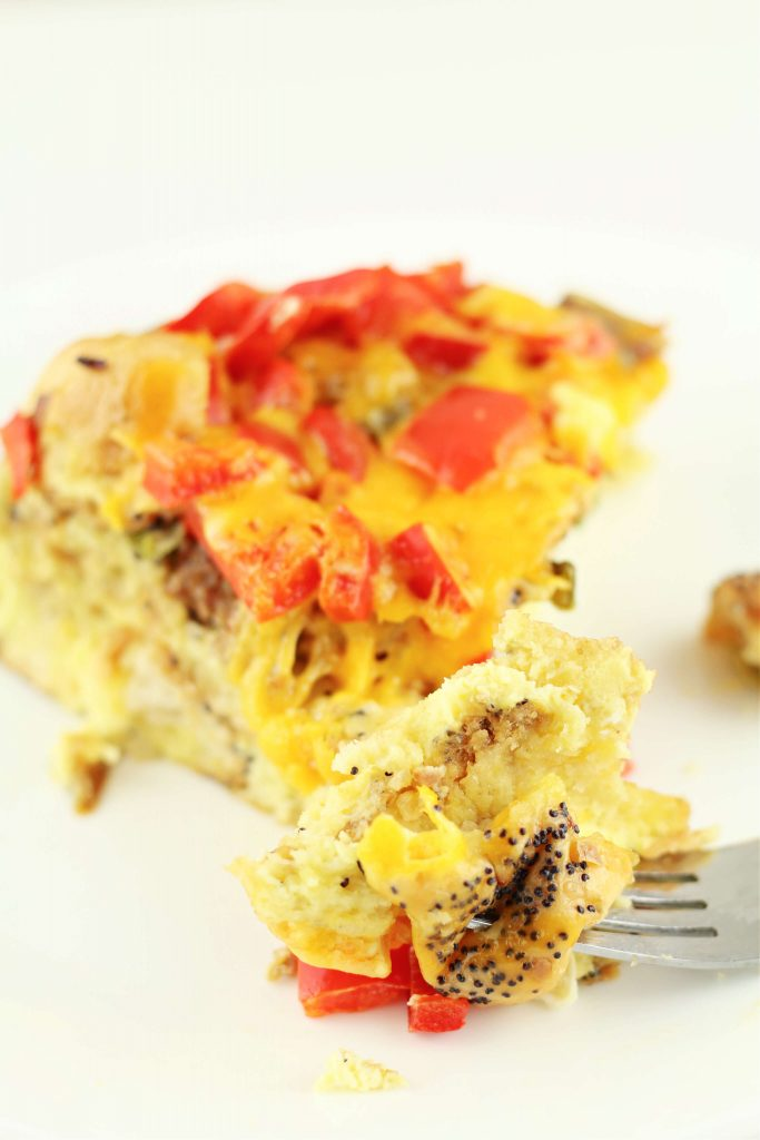 Instant Pot Everything Bagel Breakfast Casserole