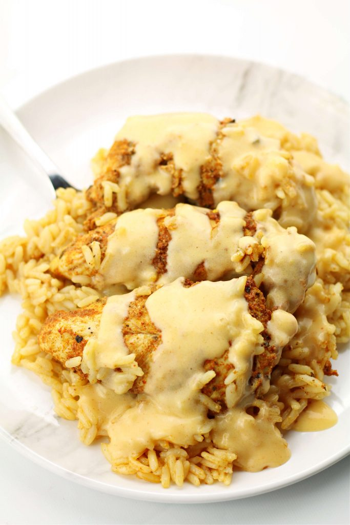 Instant Pot Mexican Queso Chicken and Rice