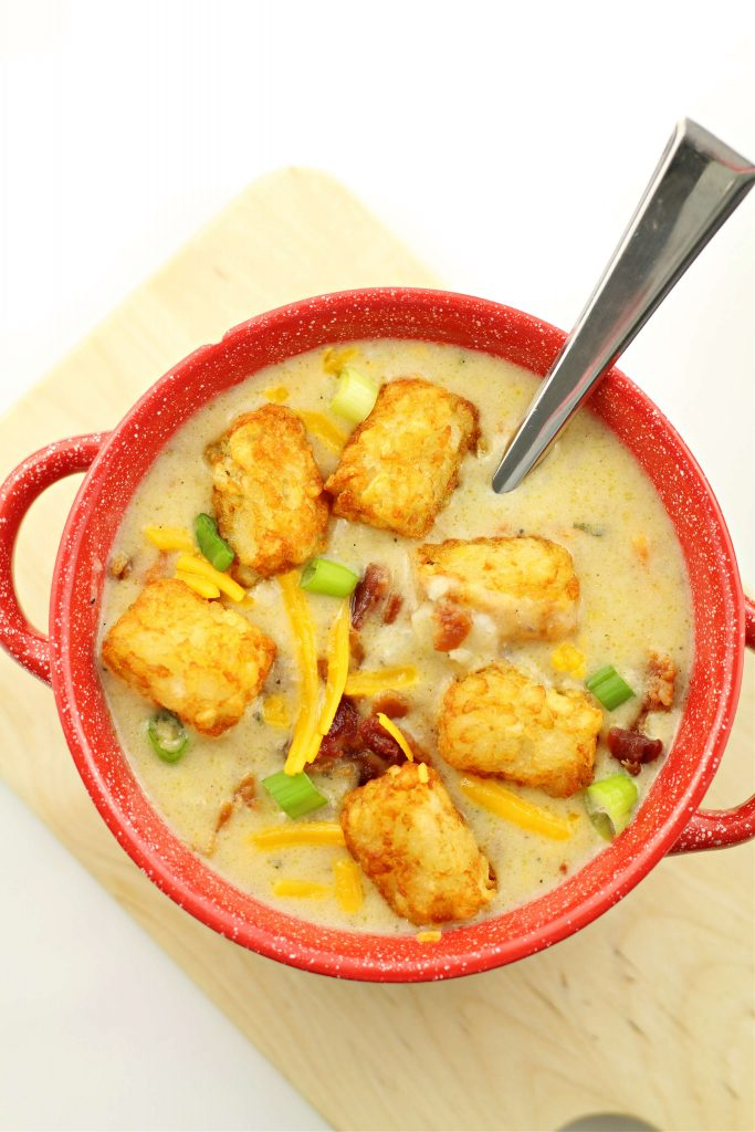 cheesy tater tot instant pot soup recipe