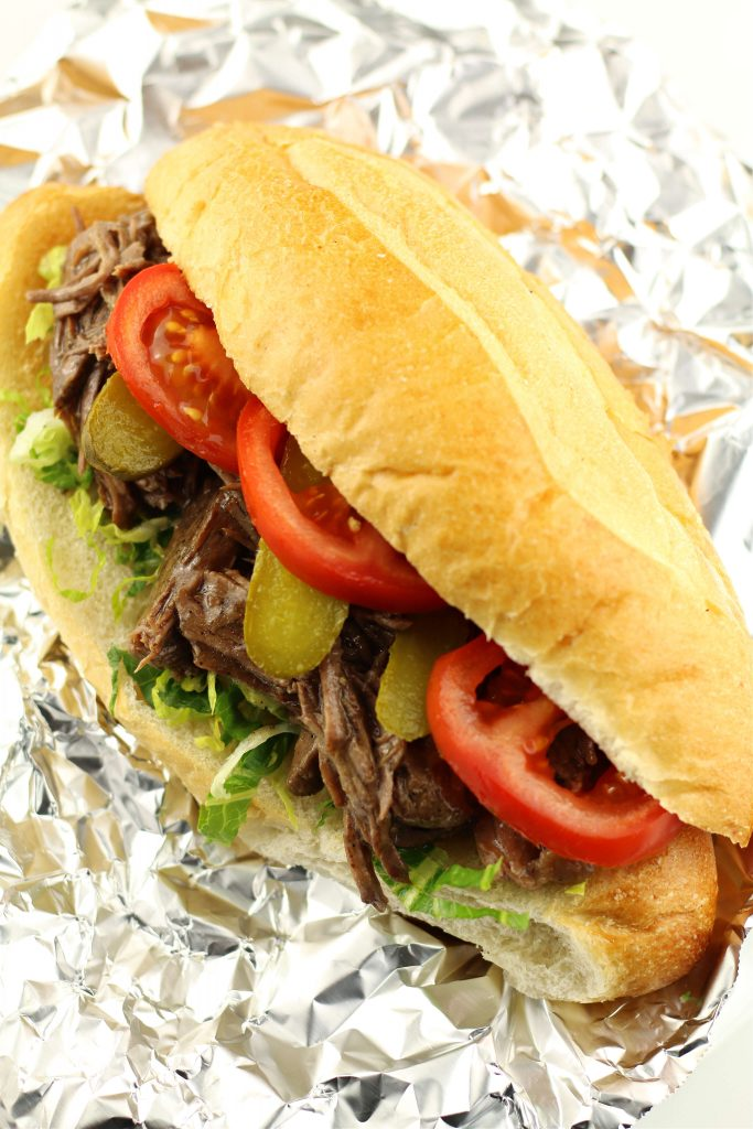 Instant Pot Po Boy Roast Beef Sandwich