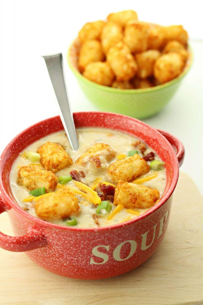 Instant Pot cheesy tater tot napoleon dynamite soup