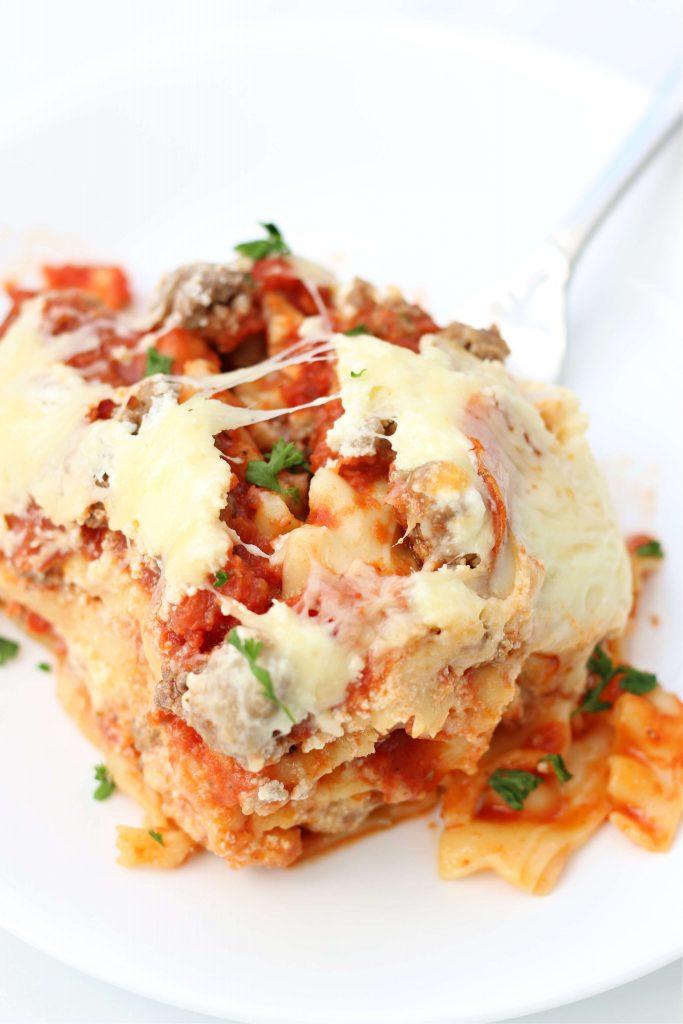 cheesy layered lasagna