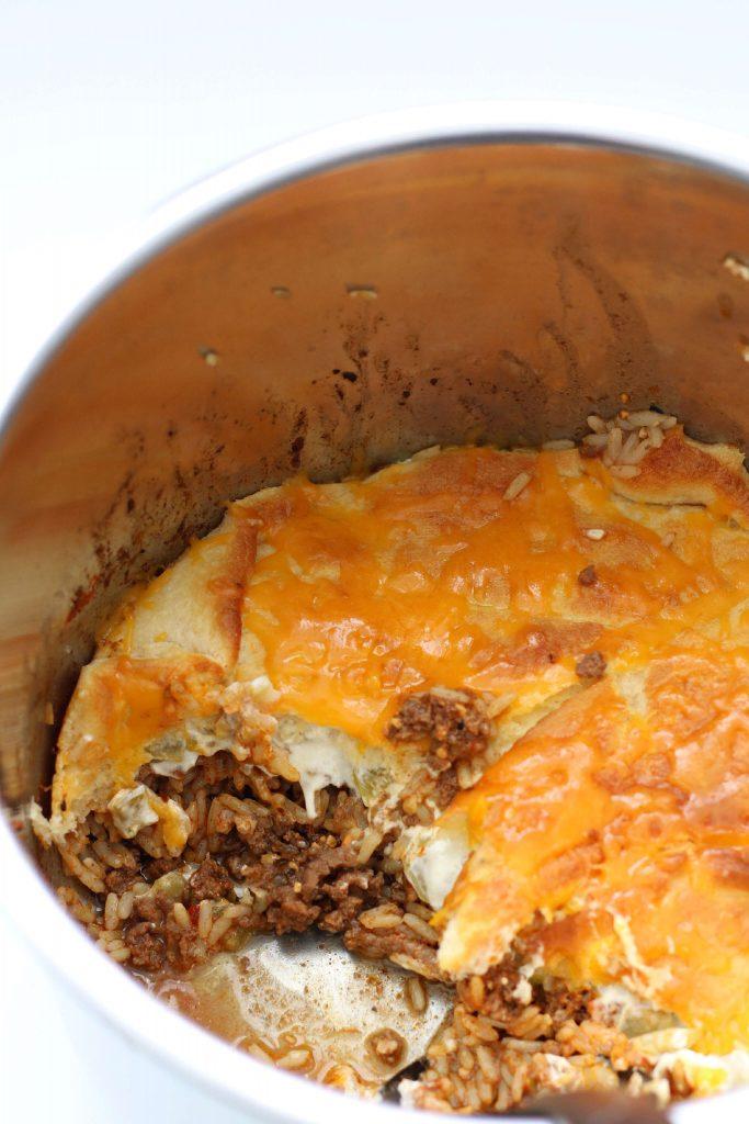 instant pot cheesy beef casserole recipe